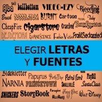 Dinámica Elegir Letras y Fuentes